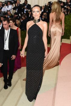 Olivia Wilde looks retro and stunning in this gown by Michael Kors at the 2016 Met Gala