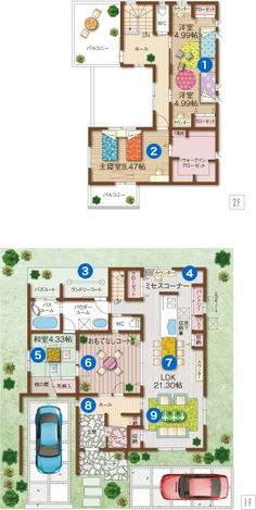 FINALプラン Sims House Plans, Dream House Plans, House Floor Plans, Japanese Architecture, Architecture Design, Craftsman Floor Plans, Small Floor Plans, House Inside, Affordable Housing
