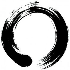 A popular expression in Zen painting, enso is a Japanese word signifying a circle. While the word has no single, fixed meaning, the expressive, brush ink circle symbolizes a moment when the mind is free enough to simply let the body create. Pintura Zen, Element Tattoo, Trash Polka, Chakra Symbole, Zen Symbol, Circle Symbol, Zen Painting, Circle Painting, Bottle Painting
