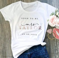 Rose Gold Bride shirt Bride Gift Soon to be Mrs Personalised shirt Bride To Be Gift Engagement Gift Custom Shirt Womens clothing - Engagment Shirts Funny - Ideas of Engagment Shirts Funny - Rose Gold Bride shirt Bride Gift Soon to be Mrs Wedding Gifts For Bride, Bride Gifts, Our Wedding, Gifts For The Bride, Wedding Ideas, Rustic Wedding, Wedding Venues, Custom Wedding Gifts, Wedding Wishes