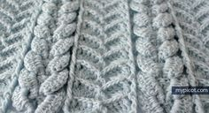 MyPicot   Free crochet patterns ' Cross Textured Cable Stitch