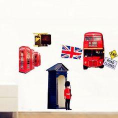 London Sreet Scene PVC Removable Wall Art Decal Sticker