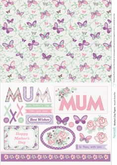 Mother's Day free printable papers from Papercraft Inspirations issue 149