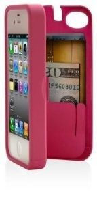 I found Pink Case for iPhone 4/4S with built-in storage space for credit cards/ID/money, by EYN (Everything You Need) on Wish, check it out!