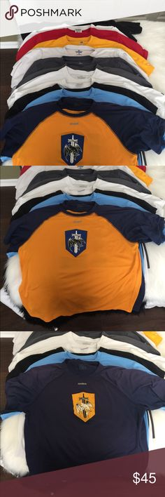 Bulk lot of 14 men's size medium jerseys Lots of years of ultimate frisbee jerseys. Some are five ultimate some are Patagonia others are vc ultimate. Some show signs of wear but all in great condition with no holes. Great as athletic shirts jerseys or work out tops! Shirts