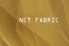 Net fabric is an umbrella term used for describing open mesh fabrics. In net fabric, yarns are knitted, knotted, looped or twisted at intersections Sewing Hacks, Sewing Tutorials, Sewing Ideas, Sewing Projects, Sewing Patterns, Sewing Tips, Different Types Of Fabric, Kinds Of Fabric, Mesh Fabric