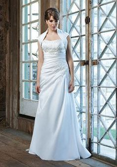 Sexy Floor Length A line Natural Waist Strapless Brush Train Plus Size Bridal Dress - Lunadress.co.uk
