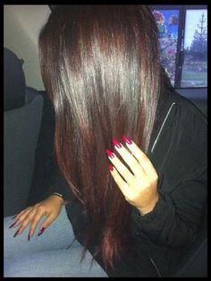 cherry coke hair
