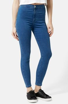 Topshop+Moto+'Joni'+High+Rise+Super+Skinny+Jeans+(Mid+Denim)+(Petite)+available+at+#Nordstrom