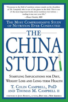 "The China Study, EVERYONE should read this book! ""The most comprehensive study of nutrition ever conducted"" ... unbelievable, amazing information for your TOTAL health and well being."