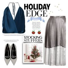 """""""Holiday Edge"""" by tfashionspeaks ❤ liked on Polyvore featuring Topshop, Tome, Yves Saint Laurent and Latelita"""