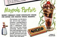 Dying for Chocolate: May Day: Queen of the May Chocolate Cake, Maypole Parfaits