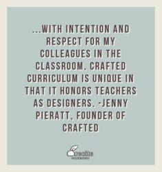 What makes CraftED Curriculum unique: