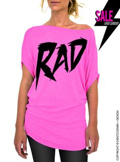 """Use coupon code """"pinterest"""" Rad - Pink Longer Length Slouchy Tee (Small - Plus Sizes) by DentzDenim"""
