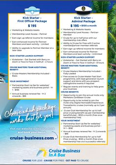 Side 2 Business Opportunities, Cruise, Marketing, Cruises