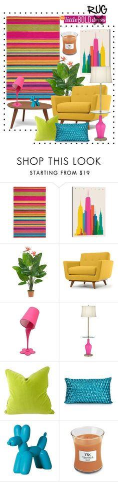 """""""Little Bold Rug"""" by leanne-mcclean ❤ liked on Polyvore featuring interior, interiors, interior design, home, home decor, interior decorating, Brink & Campman, iCanvas, Nearly Natural and Thrive"""