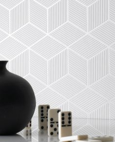 30-191 Superfresco Easy Cubix White Geometric Wallpaper | Graham & Brown