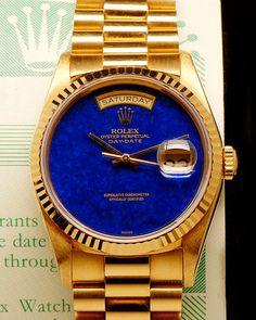 Rolex Day-Date Blue Lapis Lazuli Dial Ref. 18238