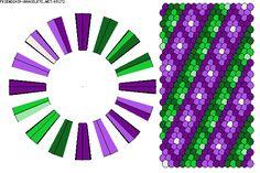 K5172 - friendship-bracelets.net.                                   32 strings / 6 colours