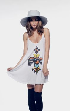 BLAZING SUN - SLIP DRESS at Wildfox Couture in CACCL, GHBLU