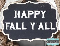 Fall Burlap Wreath with Chalkboard by GenevieveDesignsBR