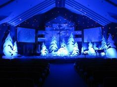christmas decoration ideas for church - Google Search