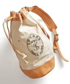 White Todd Snyder + Superior Labor Cinched Duffle Bag