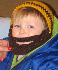 The original post for this Bearded Beanie Hat is located here .   The birthday party for the sweet little 1 year old was today. He got the h...