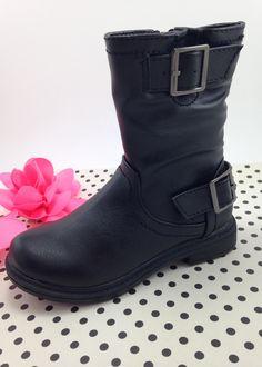 Black Biker Ankle Boots