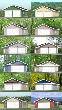 Garages PDF Floor Plans 864 by ExcellentFloorPlans Garage Workshop Plans, Garage Workshop Organization, Shed Design Plans, Shed Plans, Metal Building Homes, Building A House, Detached Garage Designs, Detached Garage Plans, Carport Sheds