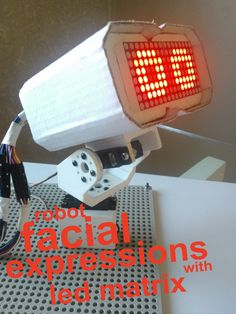 Robot facial expressions with led matrix | Let's Make Robots!