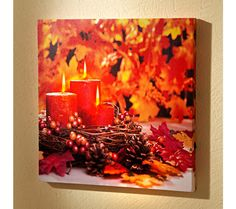 "LED obraz ""Podzimní zátiší"" 