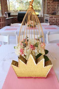 Guest Table + Centerpieces from a Princess Birthday Party via Kara's Party Ideas | KarasPartyIdeas.com (29)