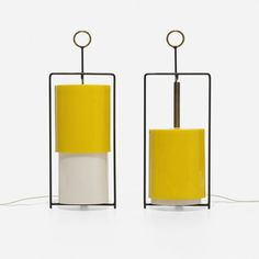 Angelo Lelli table lamps, pair.