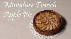 Miniature Food; French Apple Pie - Polymer Clay Tutorial