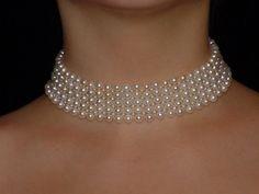 "woven pearl choker ""bohemian collection"", by Marina J"