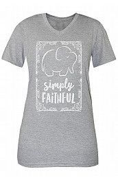 Simply Faithful Tee - Grey