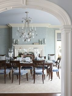 Traditional Dining  Beautiful colors & furniture