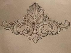 by ornamental _patterns on istagram Wood Carving Designs, Wood Carving Patterns, Dr Tattoo, Tattoo Ink, Baroque Frame, Motif Arabesque, Ornament Pattern, Filigree Tattoo, Ornament Drawing
