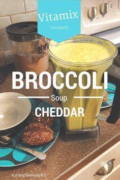 Healthy Vitamix Broccoli Cheddar Soup Recipe