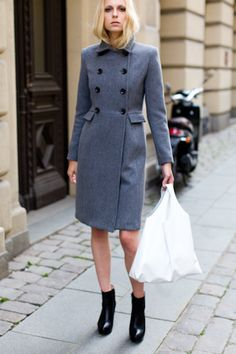 Fog Grey Coat - love the coat but am soooo sick of seeing images of women with Stick thin legs!!
