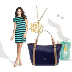 """""""Navy and Turquoise"""" by alliehartlein on Polyvore"""