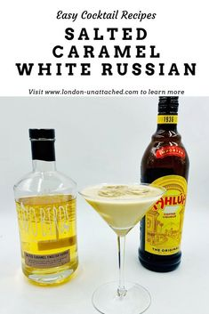 An easy and delicious dessert cocktail made with Two Birds Salted Caramel Vodka, Kahlua and cream - the perfect way to end a meal Cocktail And Mocktail, Cocktail Desserts, Easy Cocktails, Classic Cocktails, Cocktail Recipes, Healthy Italian Recipes, Easy Drink Recipes, Yummy Drinks