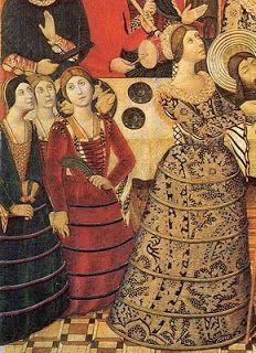 .História da Moda.: Lingerie Histórica - Parte 1: Farthingale e Guardainfante Farthingale Farthingale é a forma como é chamada qualquer uma das várias estruturas usadas sob a roupa das mulheres européias no final do século XV até o século XVI, para dar a forma desejada nas saias.