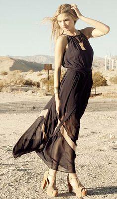 Zig Zag Sheer Maxi Dress