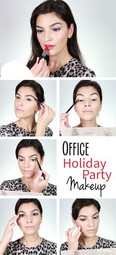 Simple, yet glamorous! Perfect look for a company party during the holidays.