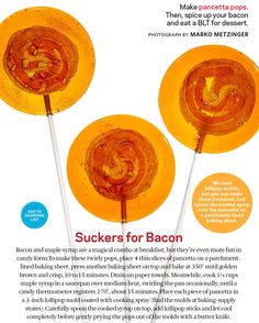 Pancetta maple suckers? I'd try it #foodnetworkmag