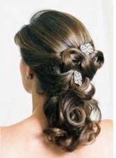 Love how you can see a gentle flow from front to back while maintaining a semi-up do. I would rather have this than half-hair style that just looks stringy where it is pulled back above the ears.   http://fashionwedding.tk/wp-content/uploads/pictures/curly-wedding-hairstyles-wallpaper-166.jpg