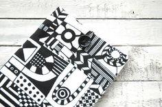 Black and white MacBook Pro 13 15 sleeve by BraveAndStylish