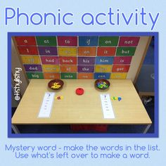 Phonic challenge - make the words to find the mystery one.